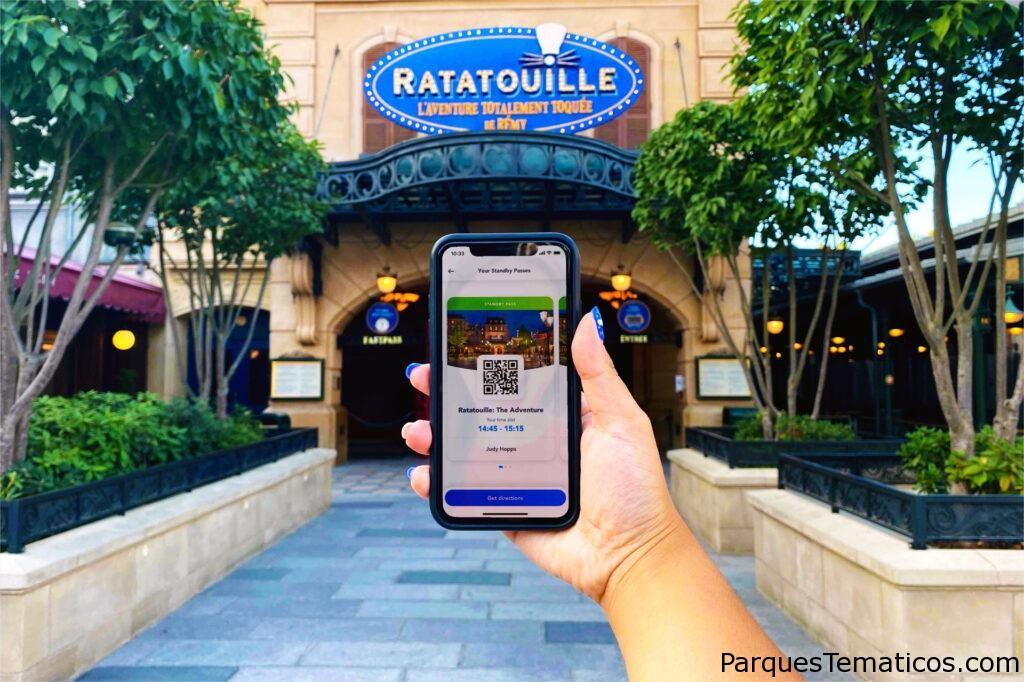 Nuevo Pase Standby que llega en el App de Disneyland París