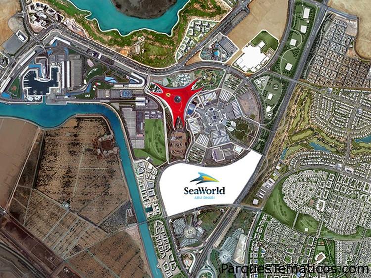 SeaWorld Abu Dhabiavanza en su construcción