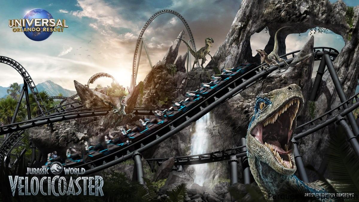 Universal Orlando Resort revela la nueva Jurassic World Velocicoaster