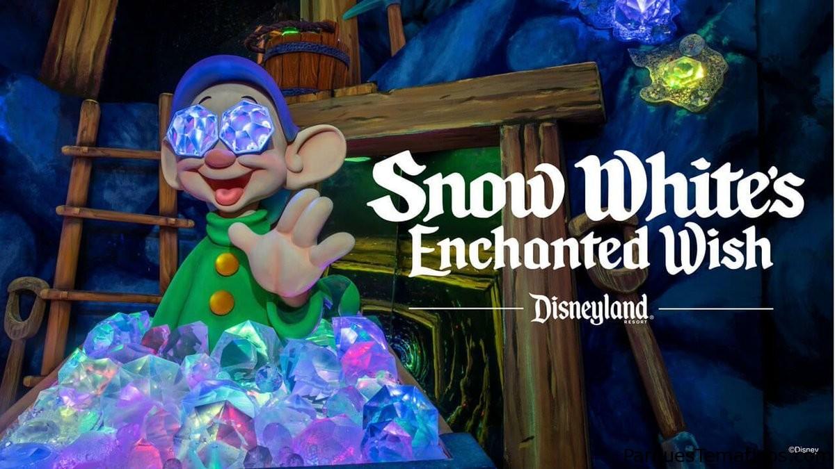 Primer vistazo al deseo encantado de Blancanieves en el parque Disneyland