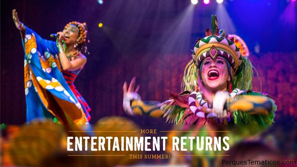 Más entretenimiento regresa este verano con una celebración del 'Festival del Rey León' en Disney's Animal Kingdom