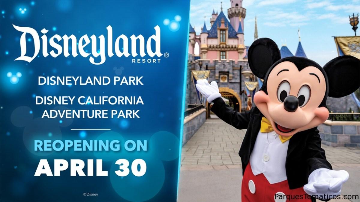 La magia está de regreso en Disneyland Resort, los parques temáticos planean reabrir el 30 de abril