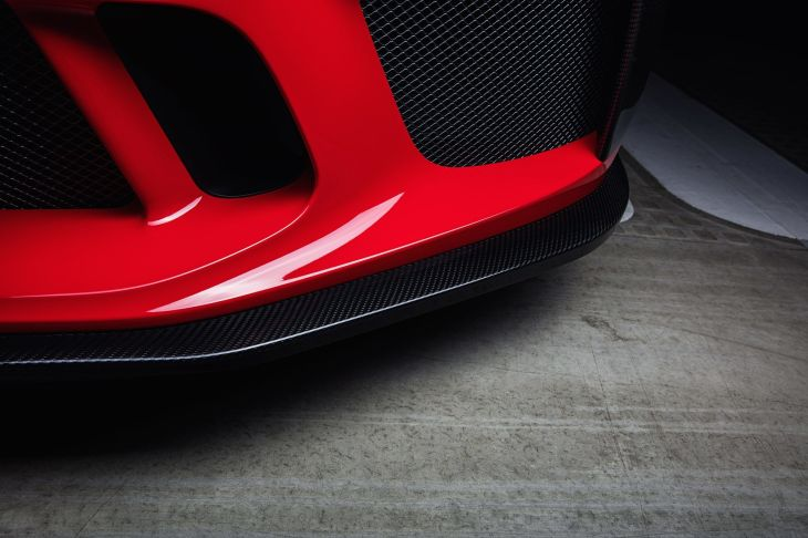 Carbon front splitter