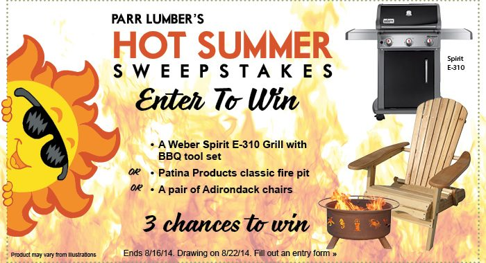 Win a Weber Grill in Our Hot Summer Sweepstakes  Parr Lumber