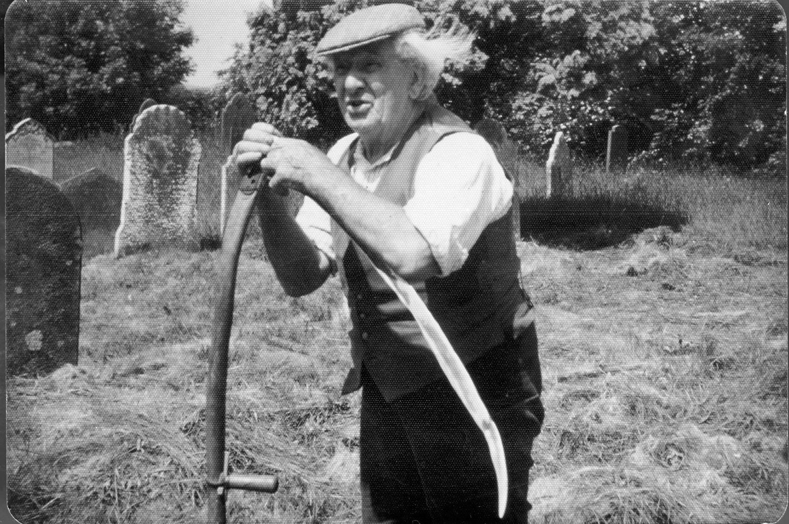 Church grass cutting F Leaworthy - kind permission of Barbara Ford
