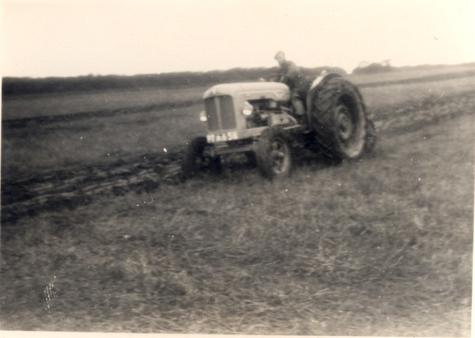 Tractor ploughing - kind permission of Julie Rawle