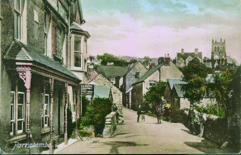 Commercial Hotel (Fox and Goose) Parracombe, Exmoor - Kind permission of Philip Petherick Postcards from Parracombe Past