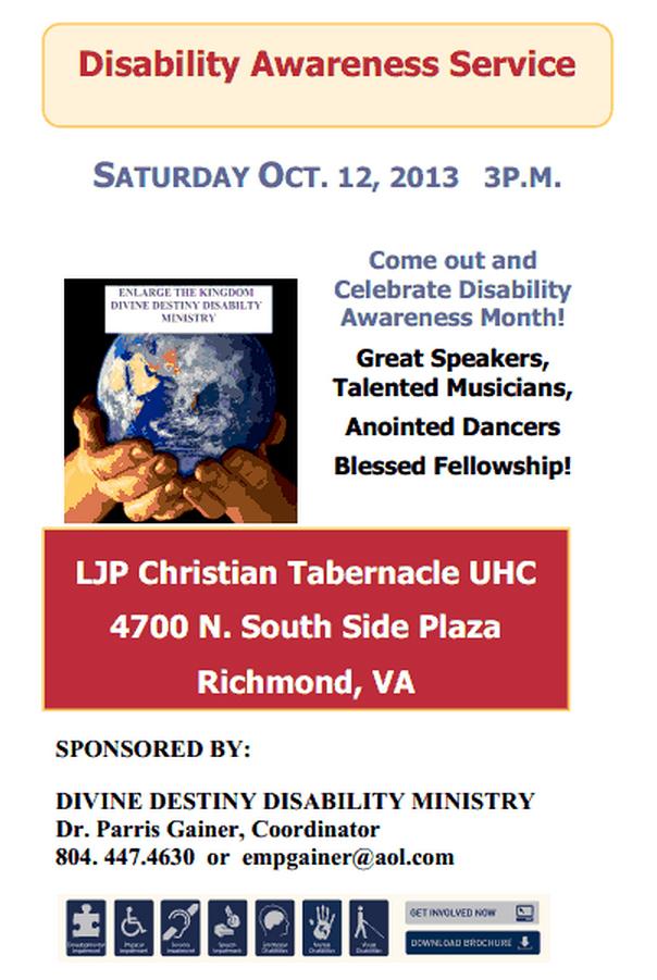 Disability National Month 2013 Awareness