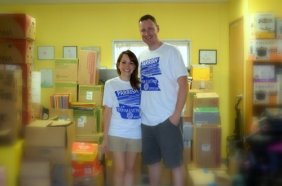 Nina and Jay Parrish at the Treasure House.
