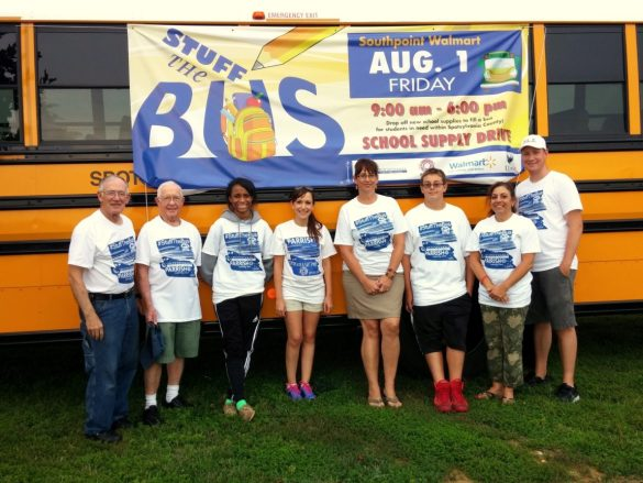 Some of our great volunteers at the end of day including School Board Member Dawn Shelley.