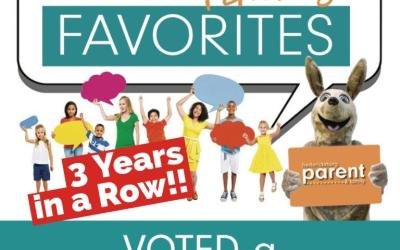 Voted a Fredericksburg Family Favorite for Three Years in a Row!
