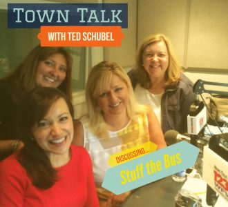 Discussing our Stuff the Bus drive on Ted Schubel's Town Talk Radio Show