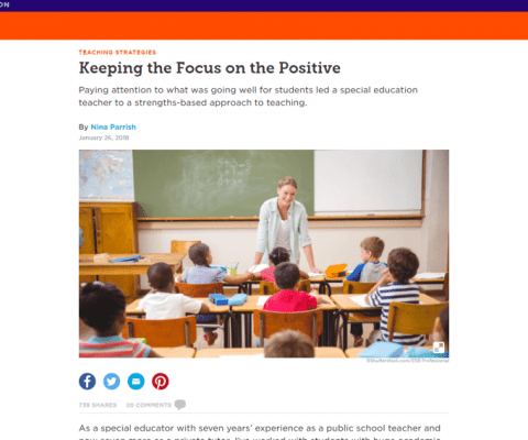 Keeping the Focus on the Positive