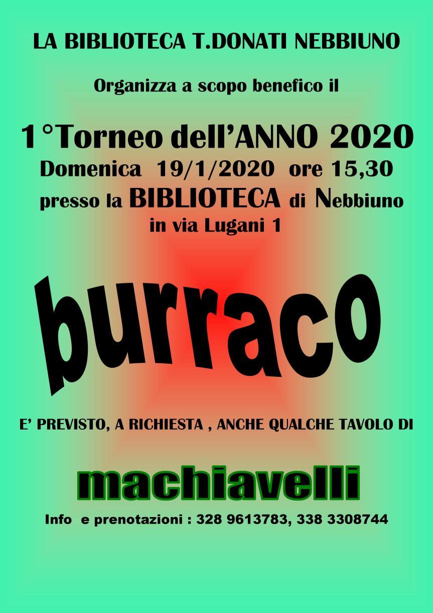 BURRACO GENNAIO 2020