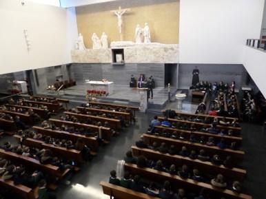 Una vista desde el coro de la iglesia