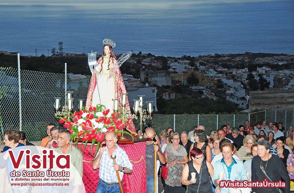Santa Úrsula se desplaza hasta El Cantillo
