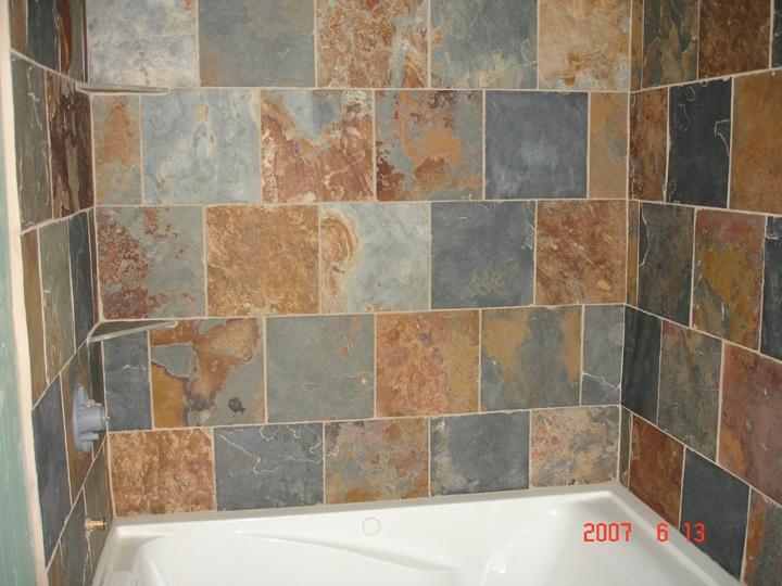 slate tile tub surround
