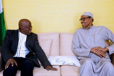VIDEO: Tinubu visits Buhari in London