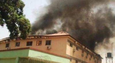 Fire guts Kaduna electoral commission headquarters — weeks before LG poll