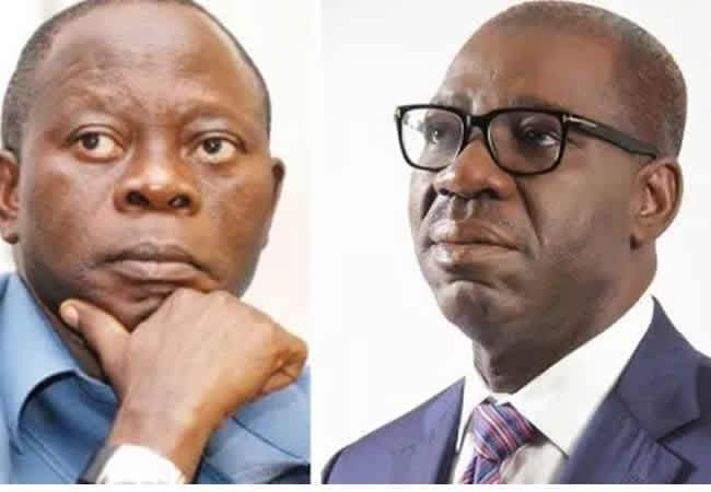 A snail can't be a threat in a race where tigers are involved - Oshiomhole tells Obaseki