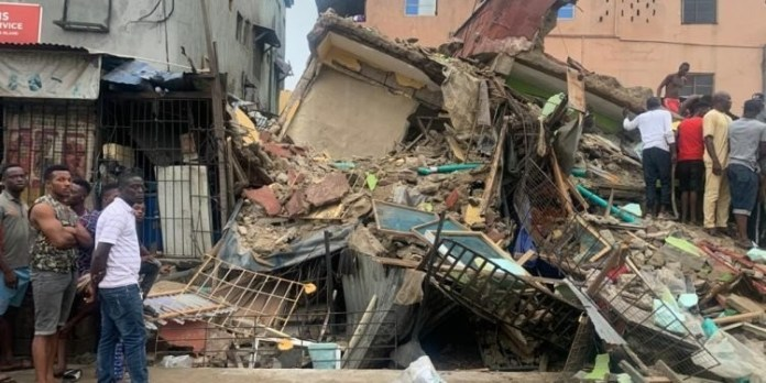 JUST IN: Six rescued, others feared trapped in Lagos building collapse