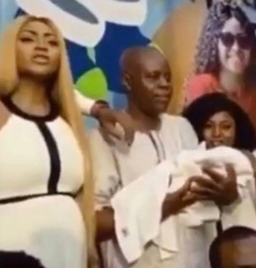 Regina Daniel's dad finally approves marriage with Ned, attends naming ceremony