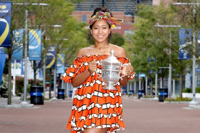 US Open Champion, Naomi Osaka Rocks African Attire To Celebrate Title