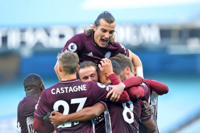 Leicester City stun Manchester City at Etihad