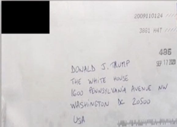 Woman sends poisoned-laced letter to Trump