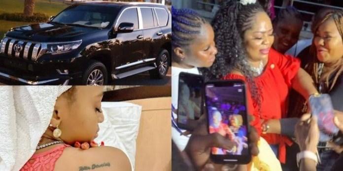 Regina Daniels gifts mother N15m Prado Jeep on her birthday (Video)