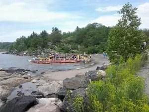 Dragon boats on beach