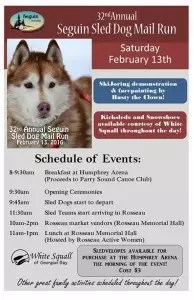 Seguin Sled Dog Mail Run Schedule of Events