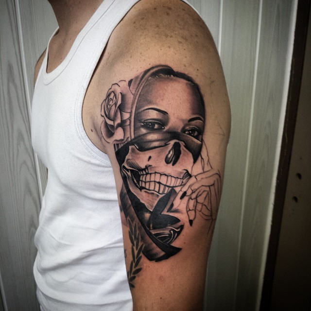 Gangster Ski Mask Tattoo Designs