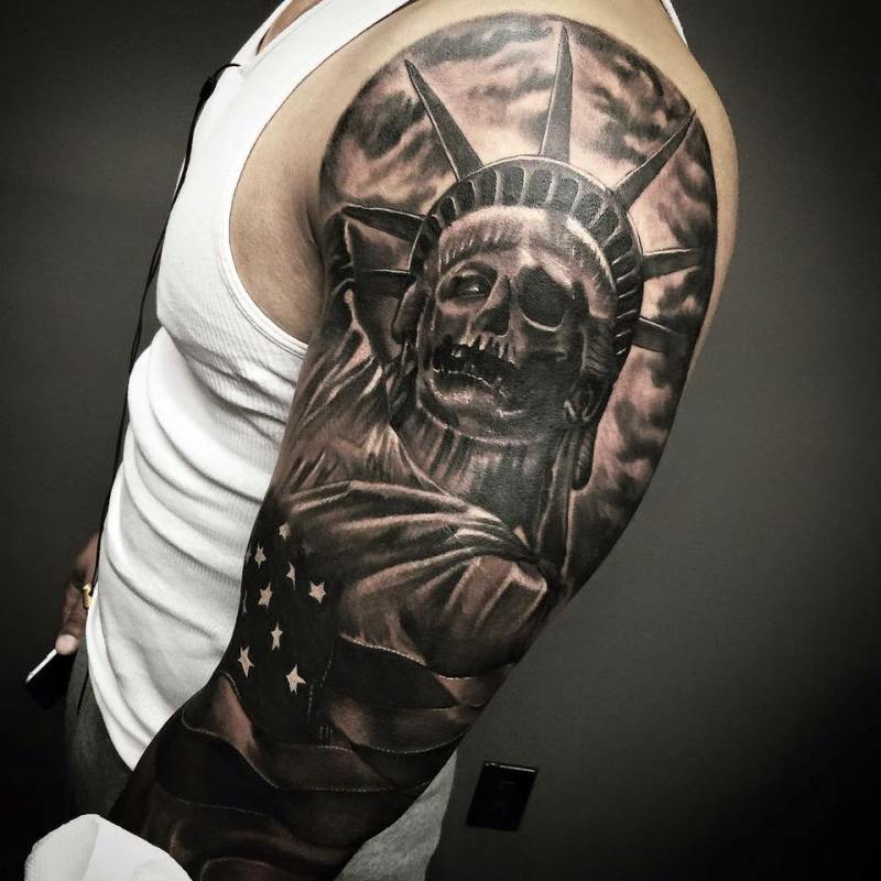 0bacc751bd65d Fullsize Of Statue Of Liberty Tattoo Large Of Statue Of Liberty Tattoo ...