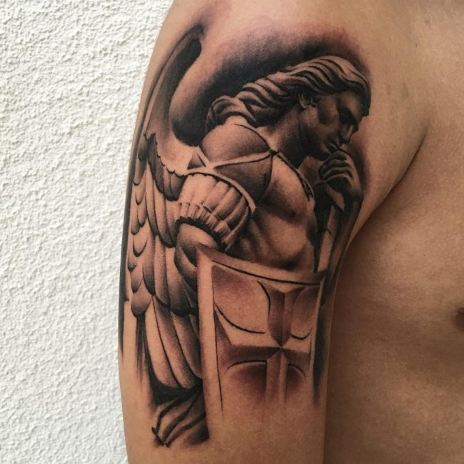 Guardian Angel Protector Warrior Tattoo