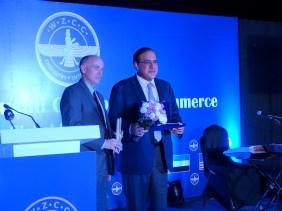 Ferzaan Engineer receiving the award