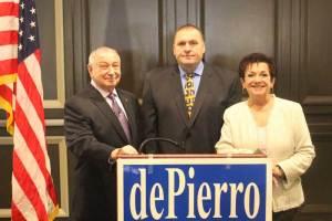 Michael dePierro, Vincent Ferrara and Loretta Gragnani announce their candidacy for Township Council