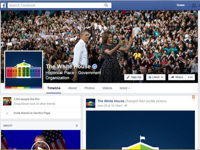 The White House Facebook page.
