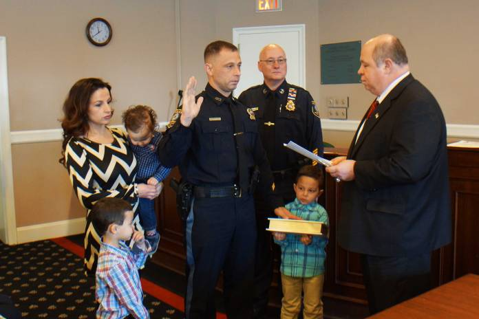 Sergeant Daniel Conte during the swearing in