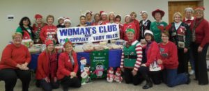 Spreading Holiday Cheer, the Woman's Club is all set to package candy and cookies to give to area senior and care homes.