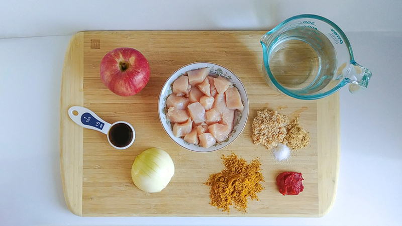 Fresh Ingredients for the HCG Apple Curry Chicken