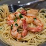 shrimp scampi ready to eat