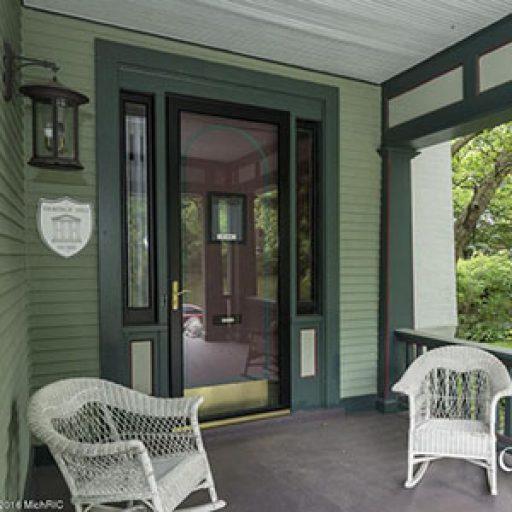 front door of parsonage inn