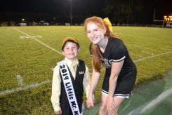 Cameron Goodwin was crowned Little Mr Mountain Lion 2019. He received a hat, sash and a TCHS football jersey. His cheerleader was Karley Kyle.