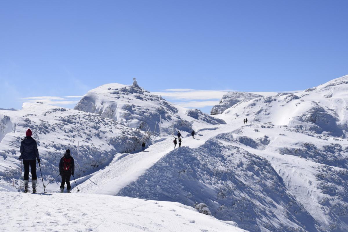 Skiing at Untersberg in Salzburg Austria