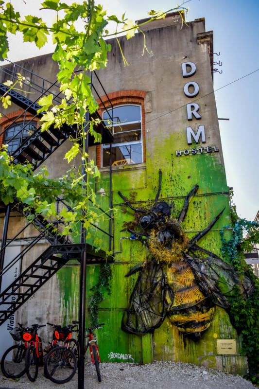 Lisbon street art LX Factory 3D wasp
