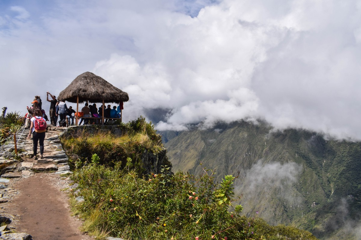 Machu Picchu Mountain watchtower at peak