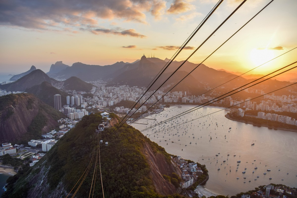 Sugar Loaf Mountain at sunset in Rio de Janeiro