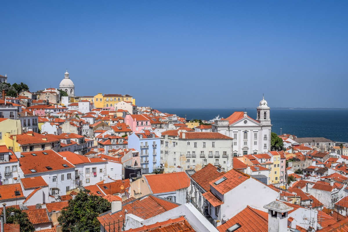Lisbon view from Miradouro das Portas do sol
