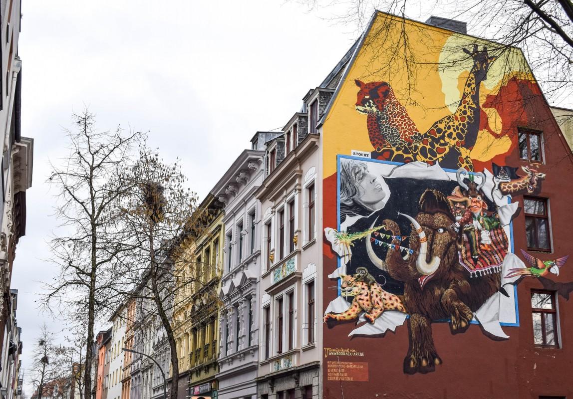 Animal street art Ehrenfeld Cologne Germany